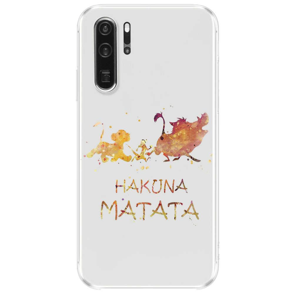 Thời Trang Họa Tiết Hoạt Hình Vua Sư Tử TPU Mềm Dẻo Silicone Cover Ốp Lưng Điện Thoại Huawei Mate10 Mate20Pro P8 P9 P10 P20Lite 2017