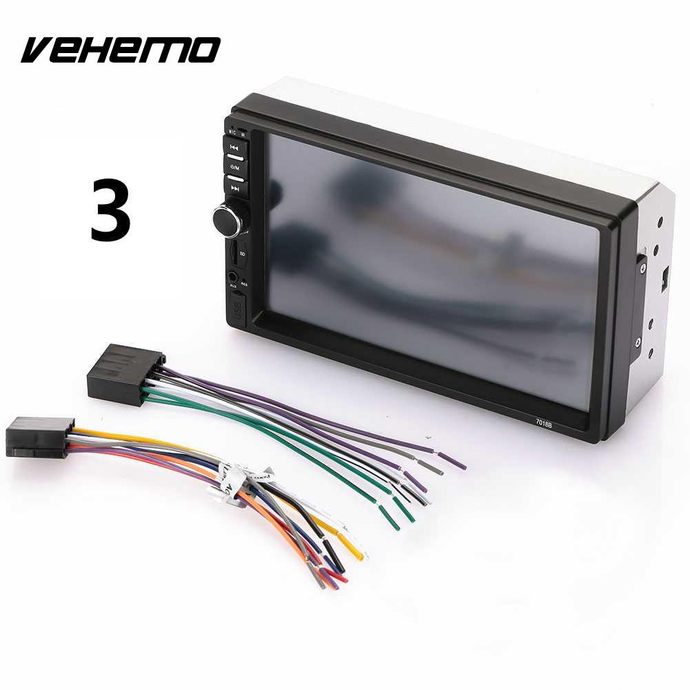 Vehemo GPS Navigation Bluetooth Car MP5 Car MP5 Player 2-Din Bluetooth Car Audio USB/TF/AUX Reverse Monitor Stereo