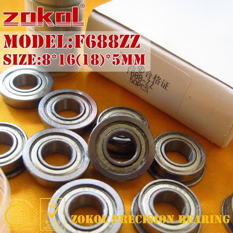 ZOKOL F688 ZZ bearing F688ZZ Flange bearing F688-ZZ Deep Groove ball bearing 8*16(18)*5mmZOKOL F688 ZZ bearing F688ZZ Flange bearing F688-ZZ Deep Groove ball bearing 8*16(18)*5mm