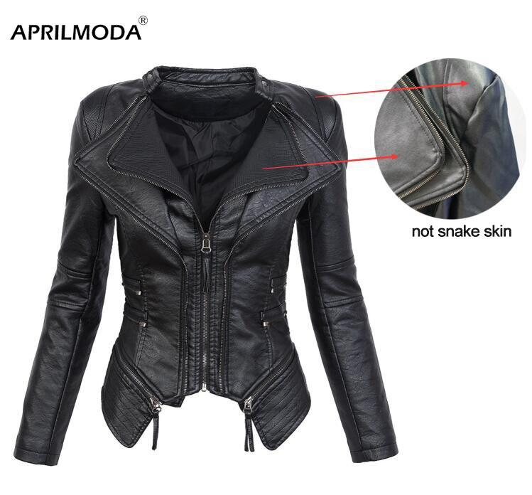 Hip Hop PU veste en cuir grande taille veste en cuir femmes automne hiver moto à capuche noir Faux à manches longues PU manteau en cuir