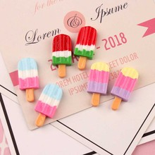 10Pcs/Lot Popsicle Ice Cream Polymer Slime Charms Lizun Modeling Clay DIY Accessories Box Toy For Children Supplies Filler