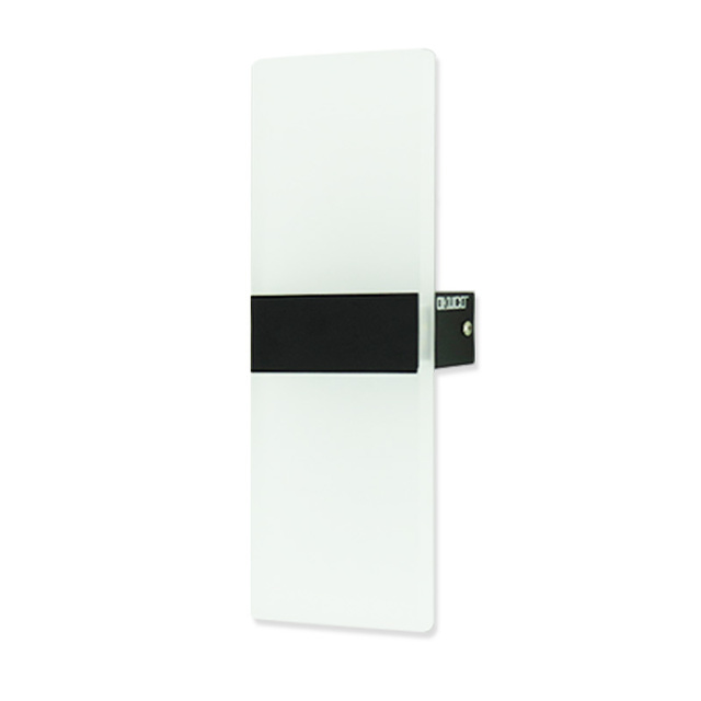 Modern Led Wall Light Fixtures Black Square Simple Design Lamp For Bedroom Hotel Hallway Acrylic Lampshade Indoor Home