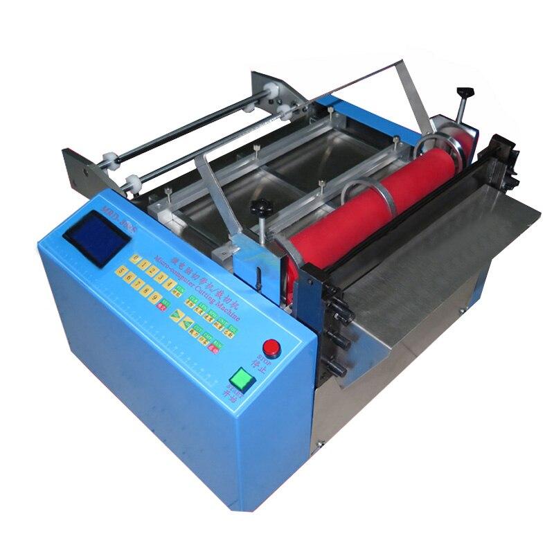 Máquina de corte automática tubo mangueira cabo máquina de corte calor psiquiatra cortador de tubulação sílica gel cortador de tubo 110 v/220 v MRD 100 - 2