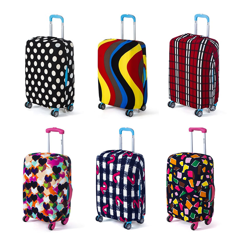 Travel On Road Luggage Cover Protective Suitcase Cover Trolley Case Travel Luggage Dust Cover For 18 To 28 Inch y road travel trolley luggage suitcase 100