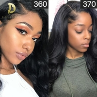 360 Lace Front Human Hair Wigs With Pre Plucked For Blace Women Brazilian Hair Body Wave 13x6 Lace front Wig Free Shipping