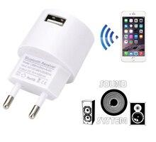 AC 110V 220V Adapter Audio naścienna na USB ładowarka bezprzewodowy odbiornik Bluetooth Adapter 3.5MM AUX V5.0 odbiornik muzyki Audio ue wtyczka usa