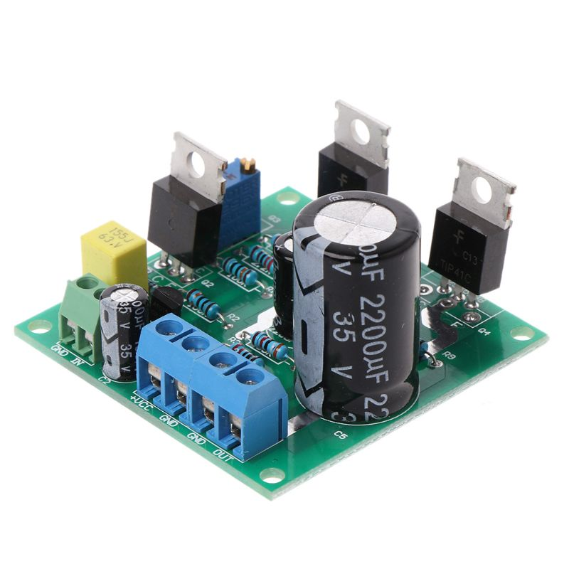 Mini 1969 TIP41C Mono Channel DC 12V High Power Digital Audio Amplifier Assemble Board-#