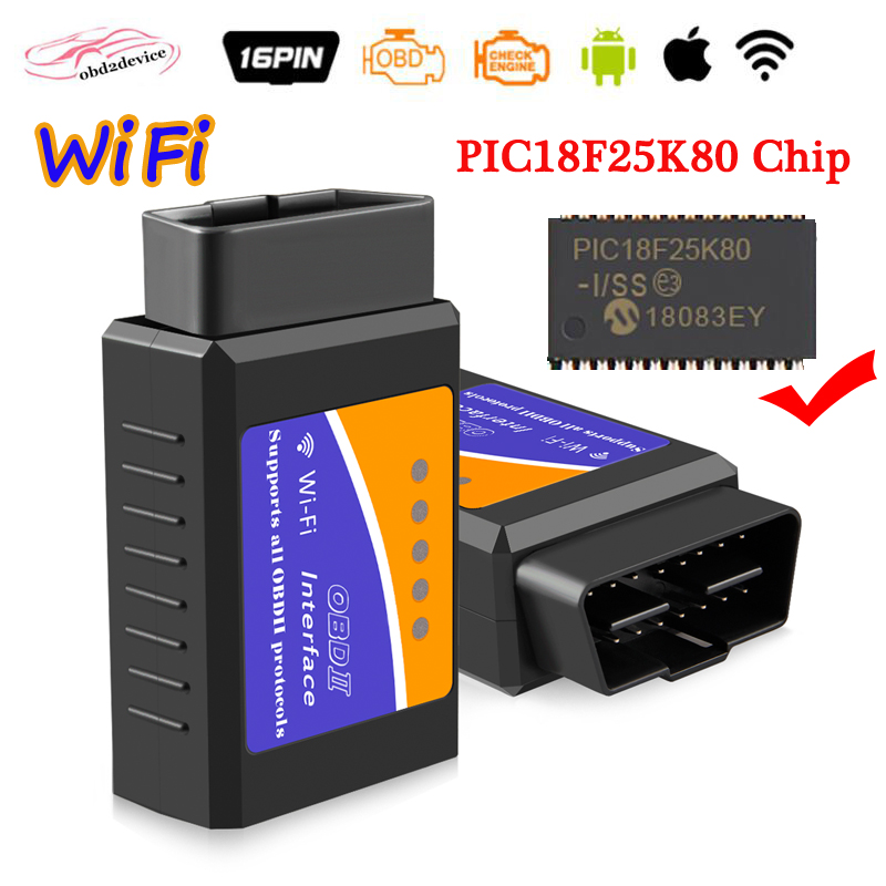 V1.5 ELM327 for iOS & Android Car WIFI OBD2 OBDII CAR Scan Tool ELM327 Scanner Adapter Check Engine Light Diagnostic Tool