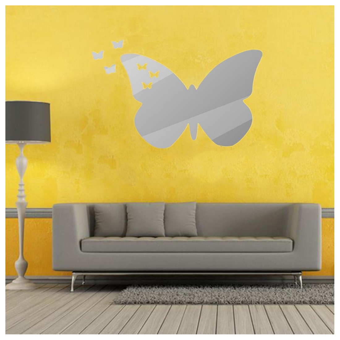 Modern 3D Butterfly Diamond Wall Sticker Decor Decal Art Mural Home ...