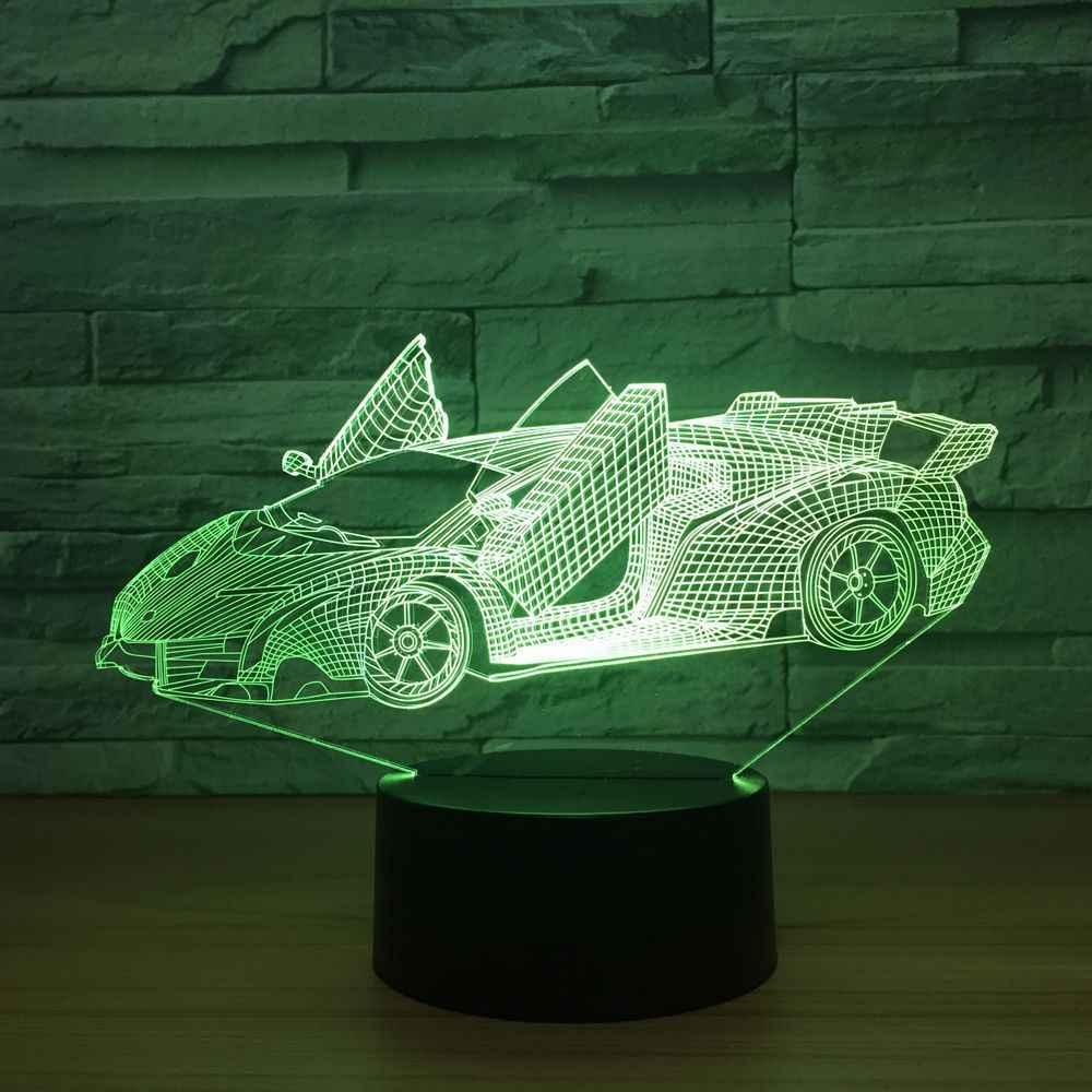 bebé lámpara Luz USB luces coche Super noche noche Color Color LED decoración con atmósfera acrílico Cool cambio pequeña escritorio lámpara 3D De 7 OPZkuTXi