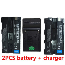 for Capacity Camcorder Flash LED NP-F960 F970 F950 F930 NP F750 battery batteries with charger