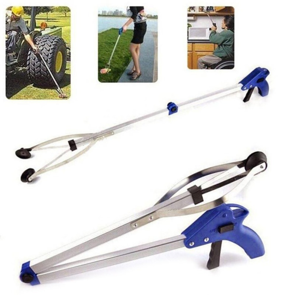 Grabber-Pick-Up-Tool Cleaning-Tool Reaching Extend Aluminum Trash-Stick Anti-Slip-Handle title=