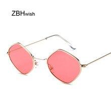 1c407efac New Fashion Hexagon Sunglasses Women Men Brand Designer Tinted Sun Glasses  Female Lady Mirror Sunglass Oculos De Sol