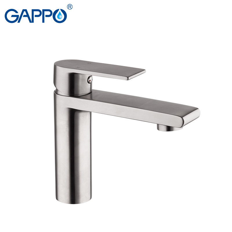 GAPPO Basin Faucet Water Mixer Tap Basin Sink Faucets Bathroom Stainless Steel Faucet Waterfall Toilet Basin Tap G1099-20