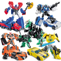 NEW Anime Series Action Figure Toys Transformation 4 Robot Car ABS Plastic Class Cool Juguetes Model