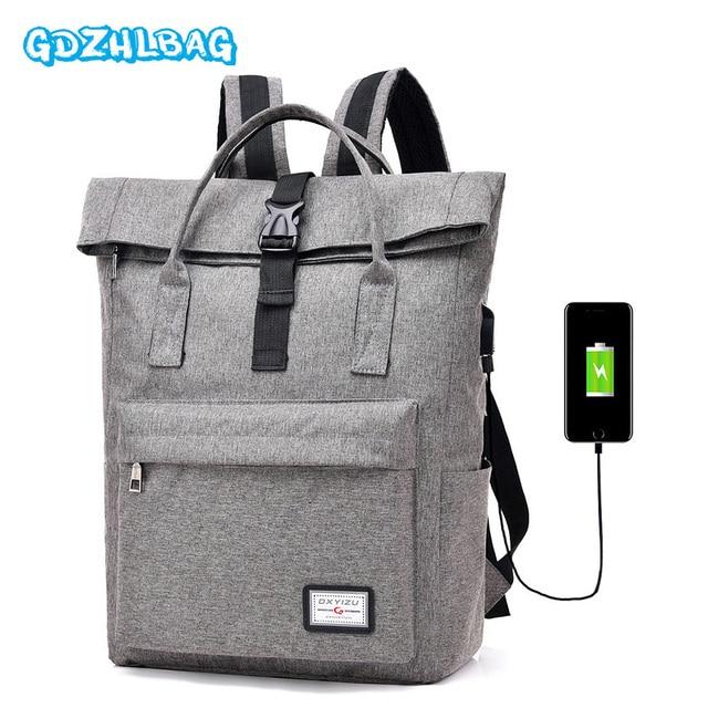 f4996ac3d36 Women Anti Theft Laptop Backpack with USB Charging Port Unisex Leisure Men  Travel Backpack School Bags mochila feminina B287