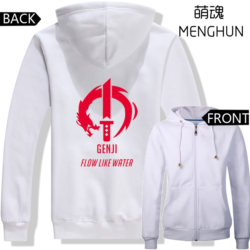 GENJI zip up hoodies GENJI flow like water hoodies game character genji skill logo costume for game fans ac200