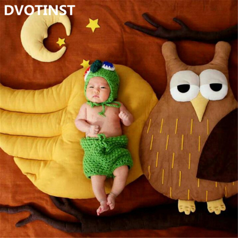 Dvotinst Newborn Baby Photography Props Animals Owl Theme Background Fotografia Accessories Infant Studio Shooting Photo Props shengyongbao 300cm 200cm vinyl custom photography backdrops brick wall theme photo studio props photography background brw 12