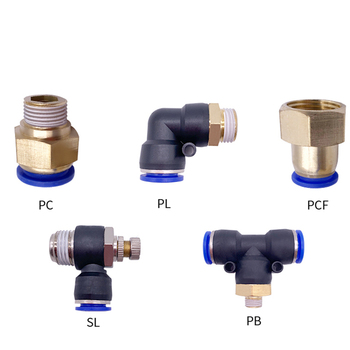 1PCS Pneumatic Quick Connector PCF PC PL SL PB 4MM-12mm Hose Tube Air Fitting 1/4 1/8 3/8 1/2BSPT Male Thread Pipe Coupler 1pcs air pipe fitting pcf 6 8 10 12mm hose tube 1 8 3 8 1 2 bsp 1 4 female thread brass pneumatic connector quick joint