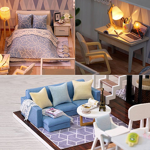 Image 3 - CUTEBEE DIY Doll House Wooden Doll Houses Miniature Dollhouse Furniture Kit with LED Toys for children Christmas Gift  L023