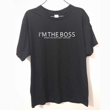 I'm The Boss - When The WIFE IS AWAY - Husband Gift Father FUNNY PRINTED MENS T Shirt Tshirts Cotton Short Sleeve T-shirts
