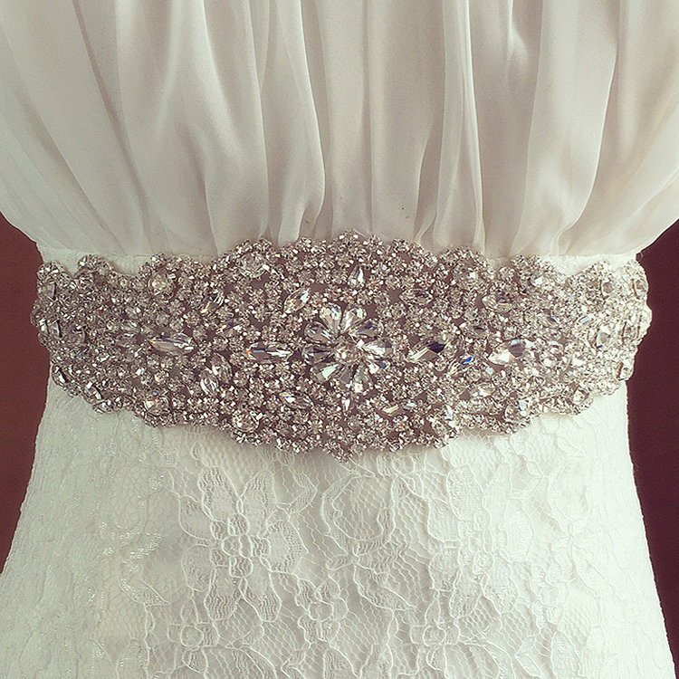 Wedding Crystal Band Bride Wedding Dress Accessories Waist Belt Luxury Hand Sewn Diamond Bridal Belt Multi Color