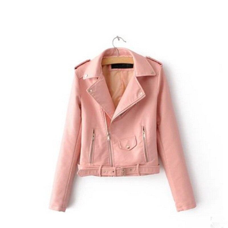 Manteau Mince Femmes Cuir 2018new claret Automne Pu yellow light Pink Moto black Jaune Mode Marque En Vestes De Veste Blue Hiver qwOrq7pB