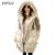 ESTILO 2016 Venda Hot Casual Coréia Moda Plus Size Senhoras cinza Preto Com Capuz Mulheres Inverno Jaqueta Grossa Pato Branco Extra casacos
