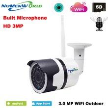 H.265 Водонепроницаемый IP Камера Беспроводной сети Wi-Fi Камера 3.0MP HD P2P аудио Камера ИК наружного видеонаблюдения Камера с внешними SD слот