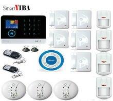 SmartYIBA Wireless 3G WCDMA Alarm System Wifi Home Security House Burglar Alarm Smoke Fire Sensor Detector Spanish French Italy