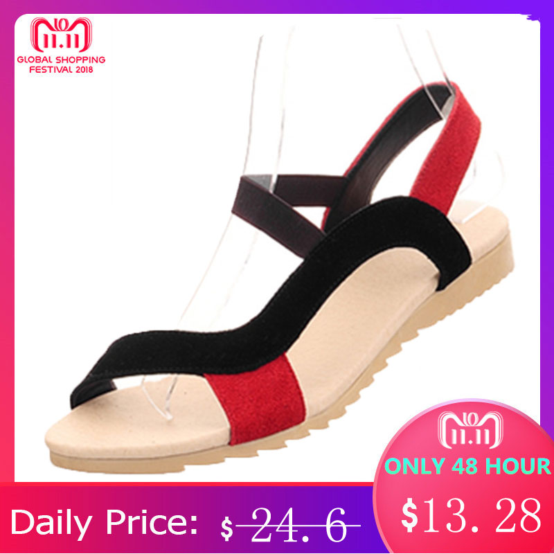 MORAZORA Low Price High Quality Cow Suede Nubuck Leather Women Sandals Flat Casual Summer Wedges Ladies Mixed Color Beach Shoes morazora low price high quality cow suede nubuck leather women sandals flat casual summer wedges ladies mixed color beach shoes