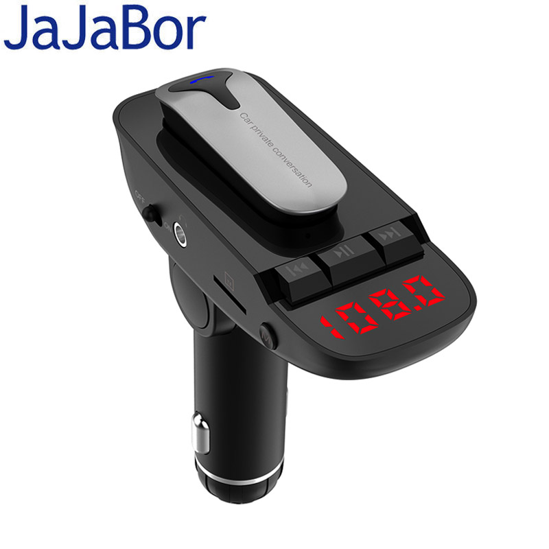 JaJaBor Car Kit Headset FM transmitter Bluetooth Handsfree AUX Audio Music MP3 Player USB Charger Support TF Card / U Disk Play hidden install wifi car dvr for bmw car low spec e90 e91 e87 e84 hd 1080p 170 wide angle support g sensor motion detection