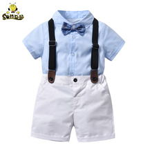 SONDR Childrens clothing Summer Toddler boy clothes T-shirt+Jeans Gentleman Suits Wear Kids Outfits Formal Wedding Party Costume