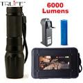 E97 CREE XM-L L2 LED 6000LM Алюминий Факелы Масштабируемые LED фонарик Факел Лампы Для 26650 или 3 АА или 18650 батареи