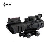 HTEN 뜨거운 판매 4x32 야외 사냥 Riflescopes 프리즘 섬유 전술 광학 시력 스나이퍼 범위 촬영 사냥 액세서리