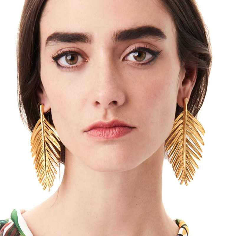 2019 Oorbellen עלה צורת מתכת זרוק עגילים לנשים Wild משלוח אוזן Drop המפלגה מקרית חמוד אביזרי גבירותיי Tiffan תכשיטים