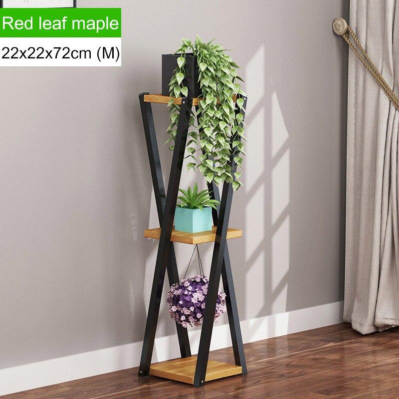 Многослойное платье с цветочным узором подставкой внутренние, из кованого железа балкон цветочный горшок стойки напольные Ящики для гостиной шкаф мебель для дома - Цвет: L168-M-brown