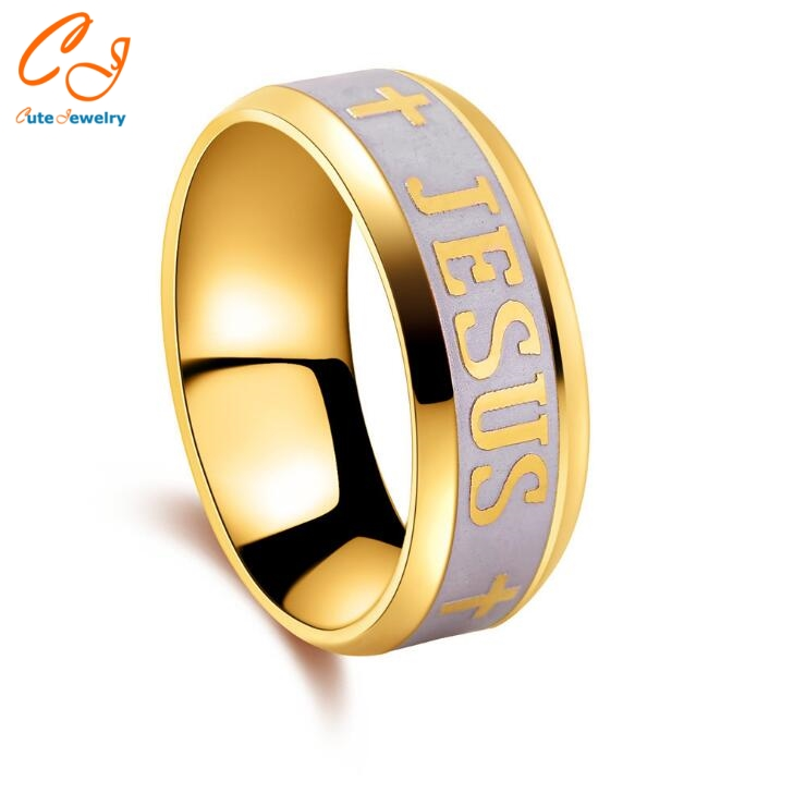 High quality large size 8mm 316 font b Titanium b font Steel 18K silver gold plated