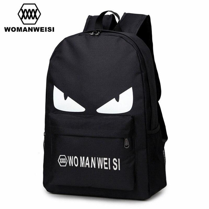 2018 mode schwarz druck oxford frauen männer laptop rucksack anime schultaschen berühmte marke weiblichen bagpack für teenager