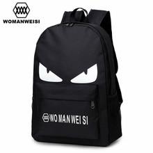 2018 Fashion Black Printing Oxford Women Men Laptop Backpack Anime School Bags Famous Brand Female Bagpack For Teenage Girls