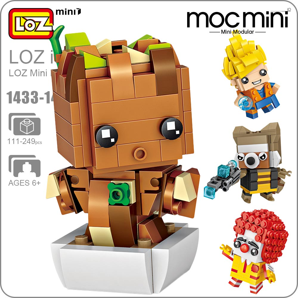 LOZ Mini Blocks Building Bricks Assemble Figures Educational Toys for Children Gift Kids Animal DIY Moc Super Heroes 1433-1448 loz super mario kids pencil case building blocks building bricks toys school utensil brinquedos juguetes menino jouet enfant
