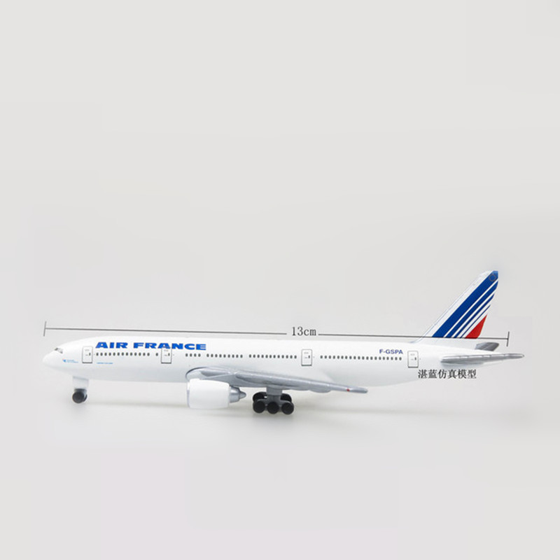 France Air B777 Airways Boeing Aircraft Model Plane 13cm Toy Alloy Metal 777 Airlines Airplane with Wheels Collection Gift Toys image