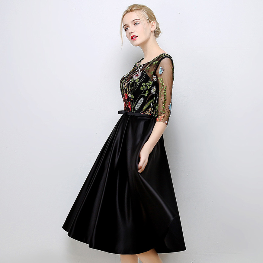 Hot Sale Prom Dress With Half Sleeves Womens Special Occasion Party ...