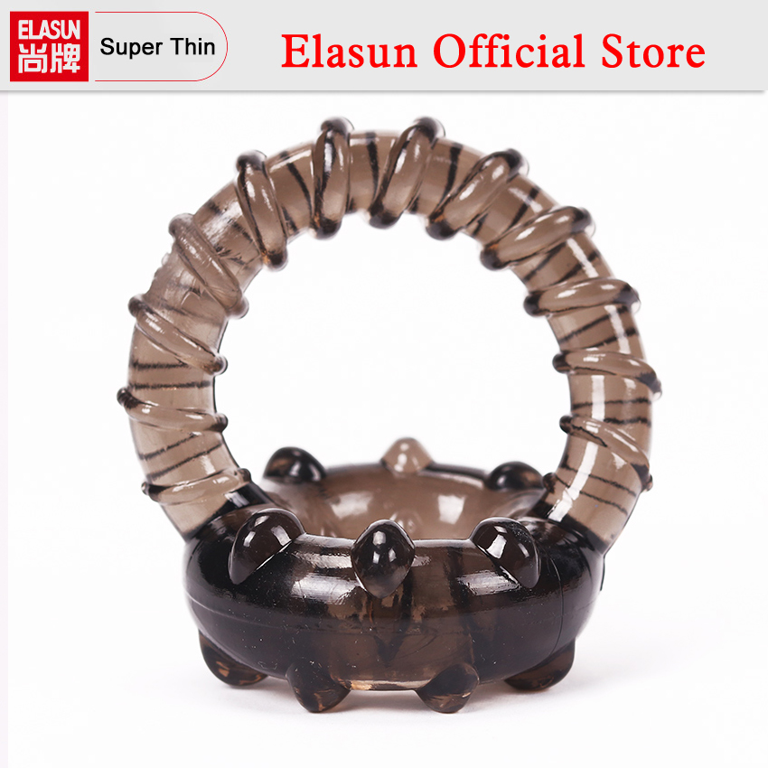 1PC Silicone Dual Cock Ring Delay Premature Ejaculation Penis Rings Adult Penis Thread Sex Toy for Men circumcision age and premature ejaculation