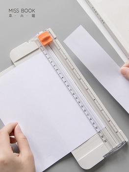 Kreatywny bezpieczeństwa slajdów gilotyna do papieru DIY sztuki i nóż do rękodzieła przycinarka do zdjęć przenośny mini tarka tanie i dobre opinie paper cutter