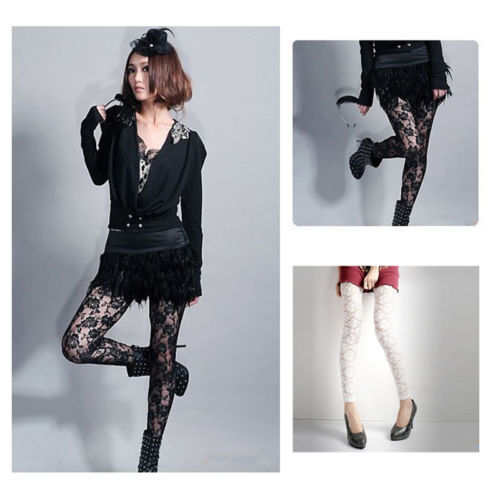 1pc Lace Legging Summer SexyThin Full Lace Ankle length Leggings Legings Floral Hollow Out Lace Leggings Hot Sale 3