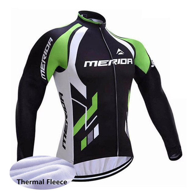 e3765d545 2018 Winter Fleece Long Sleeve Cycling Jersey 2018 Pro Team Mens Racing  Sport Bicycle Cycling Clothing Thermal MTB Bike Jersey