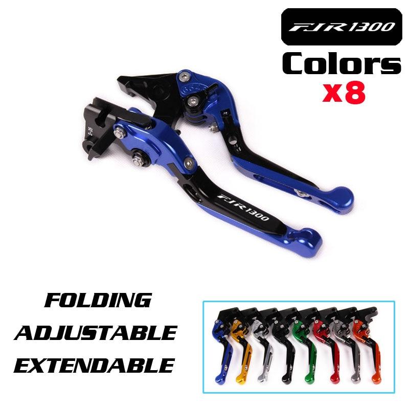 LOGO FJR 1300 For YAMAHA FJR 1300 FJR1300 2004 -2014 2015 2016 2017 Motorcycle Folding Extendable Brake Clutch Levers Black for yamaha fjr 1300 fjr1300 2001 2001 clutch brake levers cnc 10 colors adjsustable