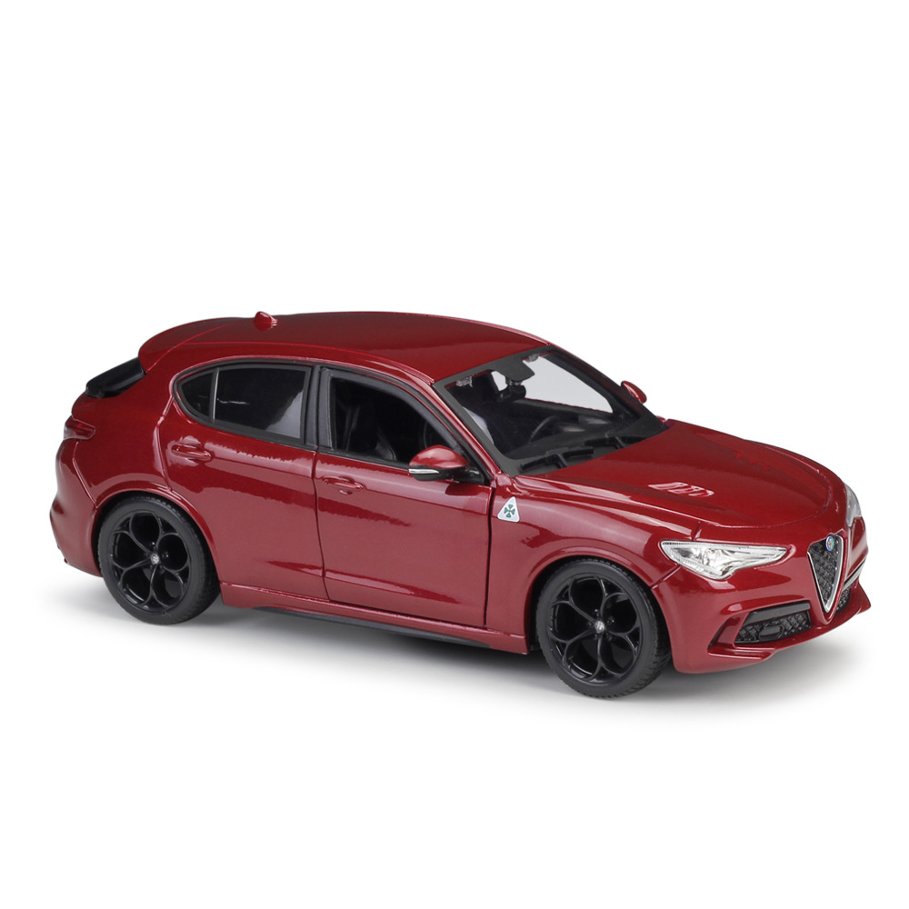 Bburago 1:24 Alfa Romeo Stelvio Red Toys Diecast Model Car