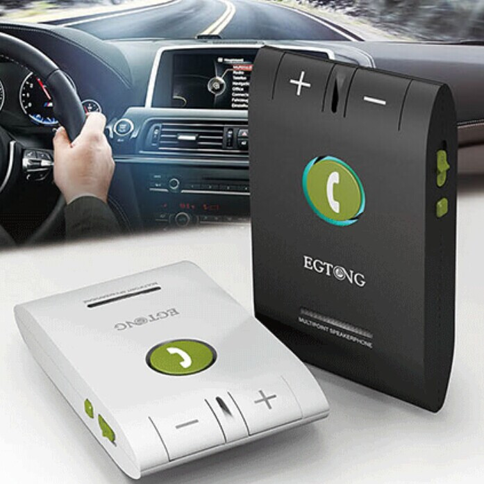 Bluetooth Car Kit Speakerphone Hands free 6E Headset Bluetooth Speaker for font b Smartphones b font
